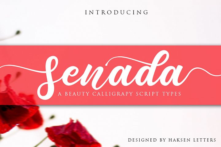 Senada Beauty Script Handwritten