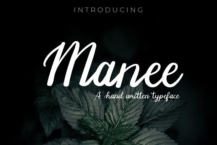 Manee Handwritten Typeface