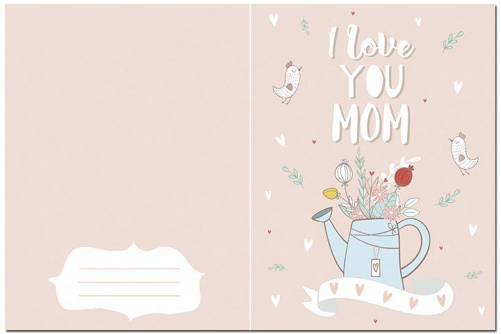 I love mom. Vector illustrations example 5