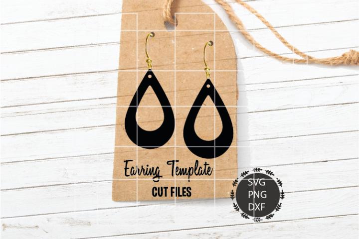 Double Cut Tear Drop Earrings Svg, Earrings Svg