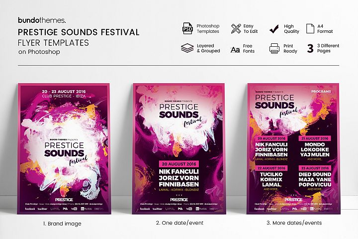 Prestige Sounds Festival Flyer Templates
