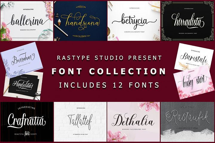 Font Collection | 12 Font