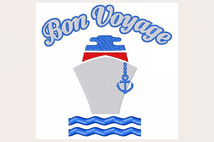 Bon Voyage - Machine Embroidery Design
