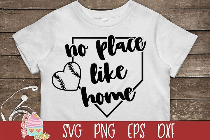 No Place Like Home SVG - Baseball Ball SVG