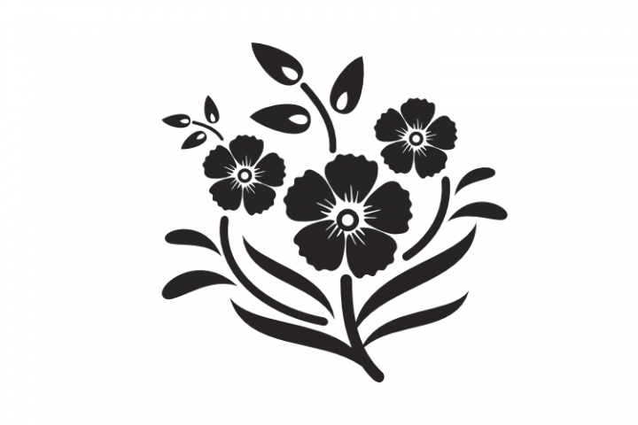 Flower Image SVG EPS PNG File
