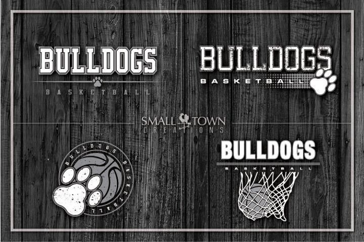 Basketball bundle, Bulldogs mascot, team, PRINT, CUT, DESIGN
