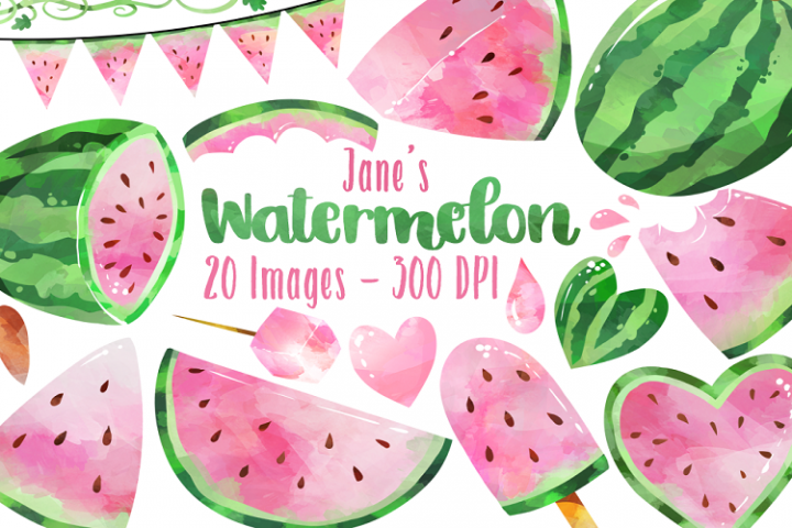 Pink Watermelon Clipart
