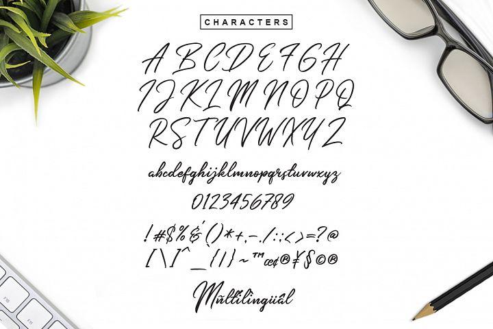 Slender Signature Font example image 6