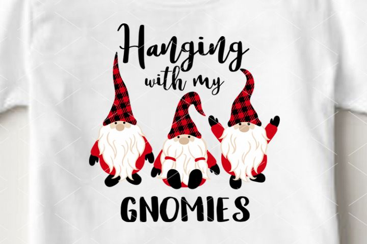 Hanging with my Gnomies svg Christmas Gnomes svg Cricut
