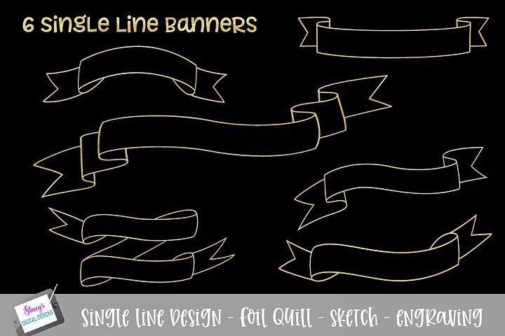 Foil Quill - Single Line Banner Bundle - 6 banners