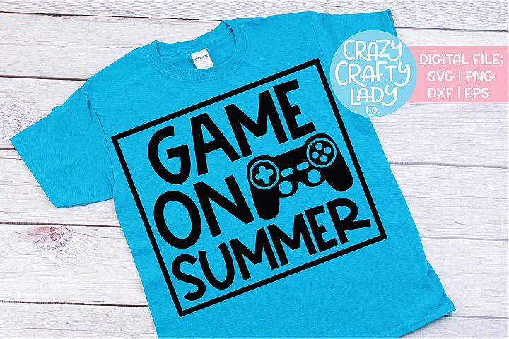 Game On Summer School SVG DXF EPS PNG Cut File
