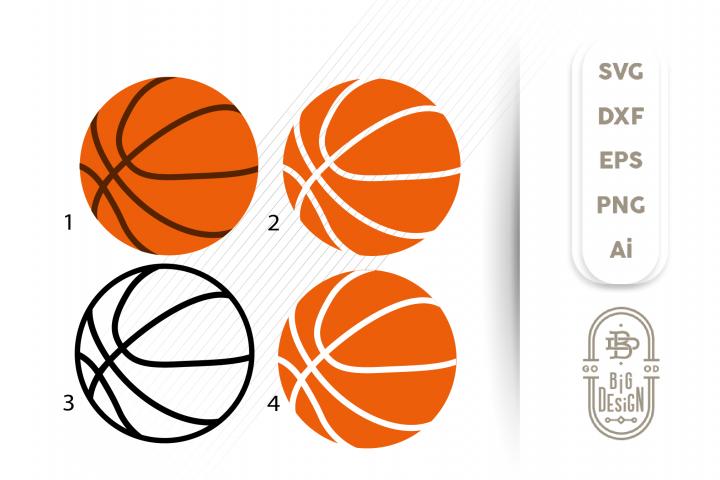 Basketball Ball SVG - Basketball Svg Bundle, 4 versions