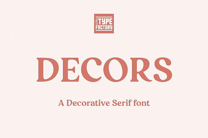 Decors - a decorative serif font