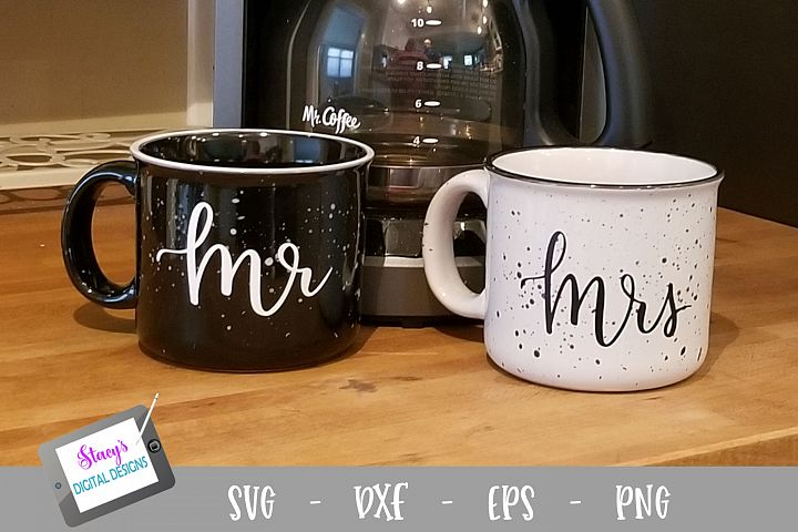 Mr. and Mrs. SVG Set - for coffee mugs, wine glasses