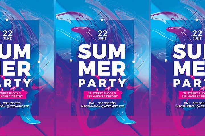 Summer Liquid Flyer Templates