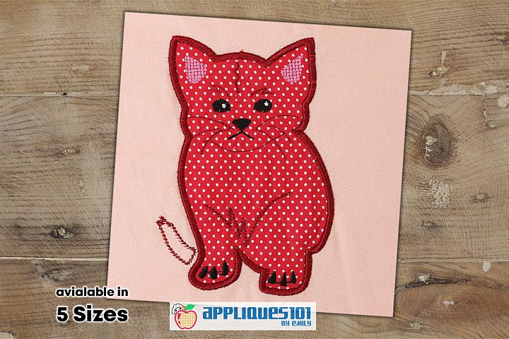 Cute Kitten Machine Embroidery Applique Design - Cats