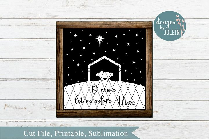 Let us adore Him SVG, png, eps, DXF, sublimation