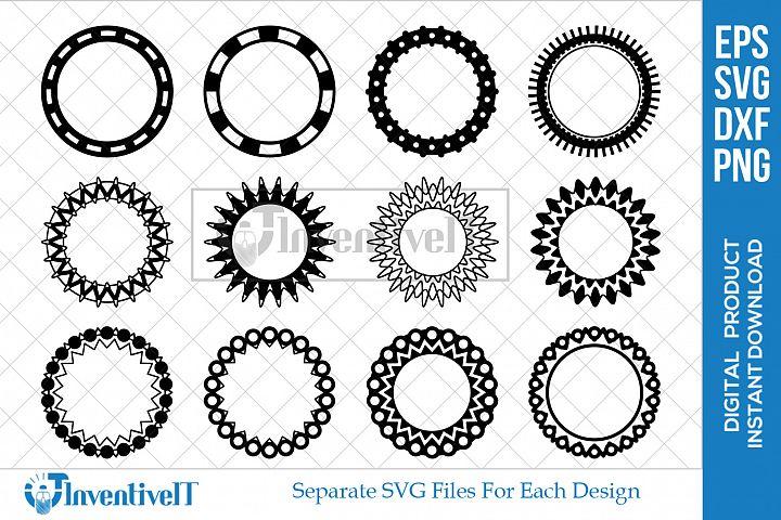 Circle SVG | Monogram SVG | Frame SVG | silhouette |