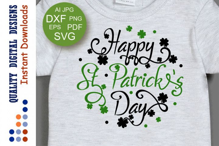 Happy St. Patricks day sign Luck svg files