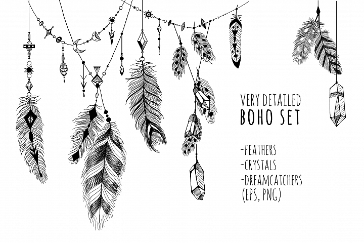 Very detailed BOHO set