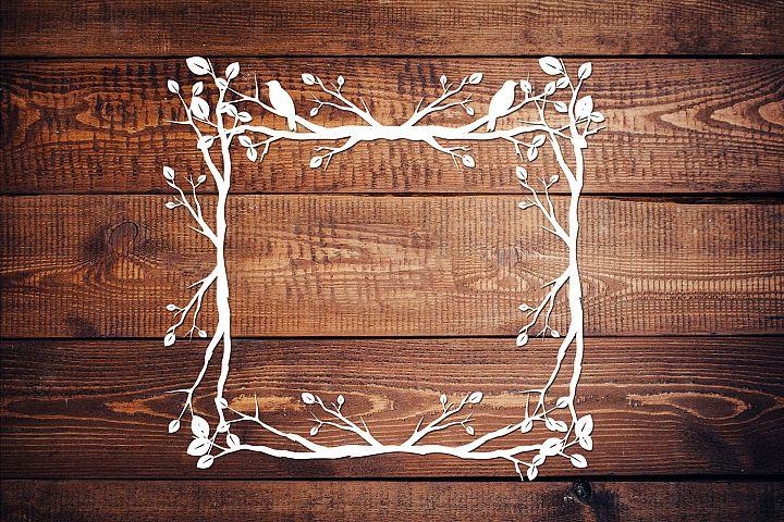 Bird and branches SVG file, Silhouette Studio file V3,
