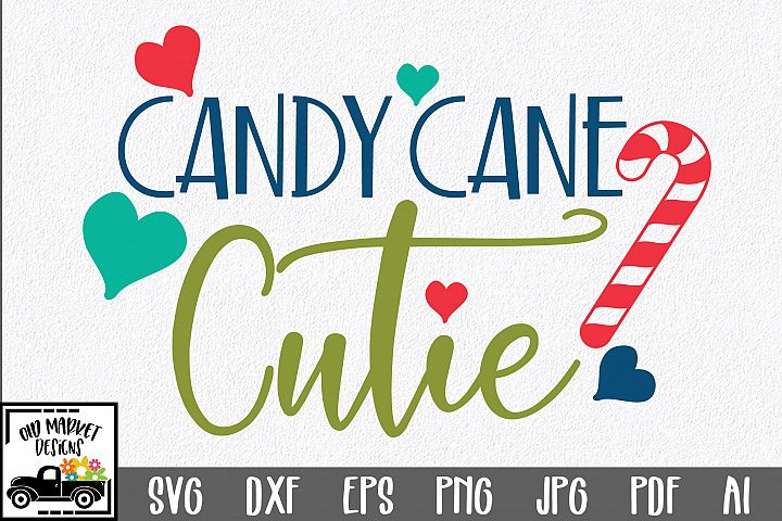 Christmas SVG Cut File - Candy Cane Cutie SVG DXF EPS PNG
