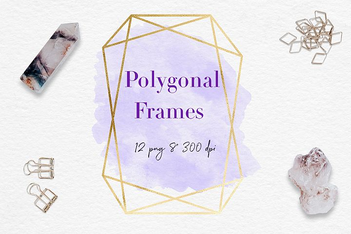 Gold And Watercolor Frames