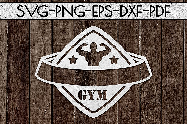 Customizable Gym Sign Paper Cut Template, Workout, SVG, PDF