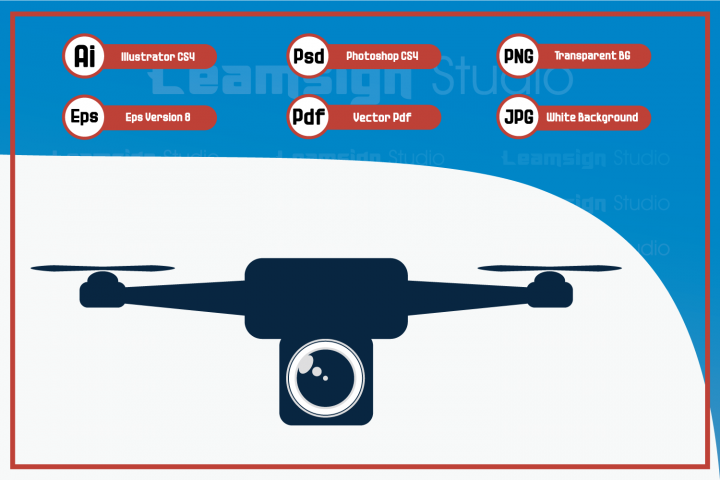 Drone logo - Vector illustration