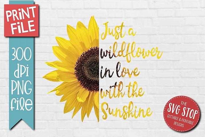 Sunflower Clipart Quotes Sublimation Design PNG