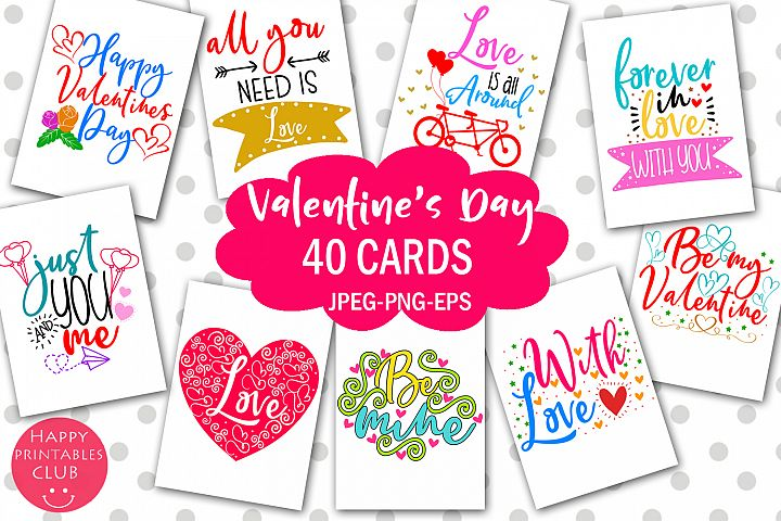 Cute Valentines Day Cards- Printable Valentines Day Cards