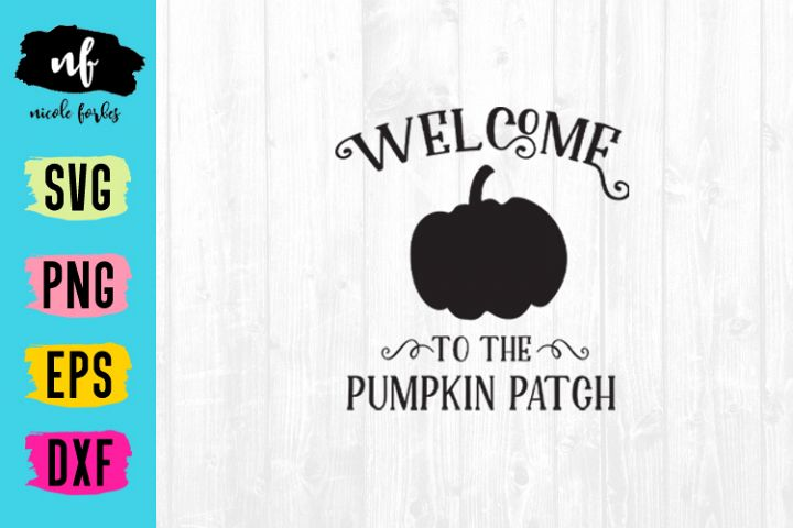 Pumpkin Patch Rustic Sign SVG Cut File