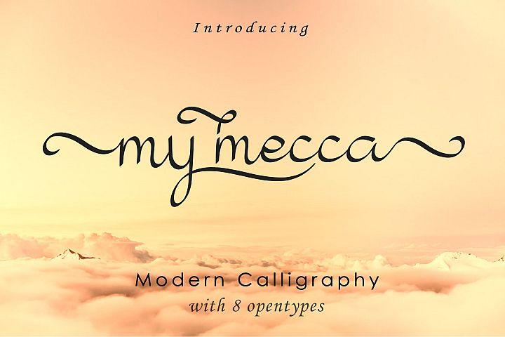 My Mecca | Modern Calligraphy