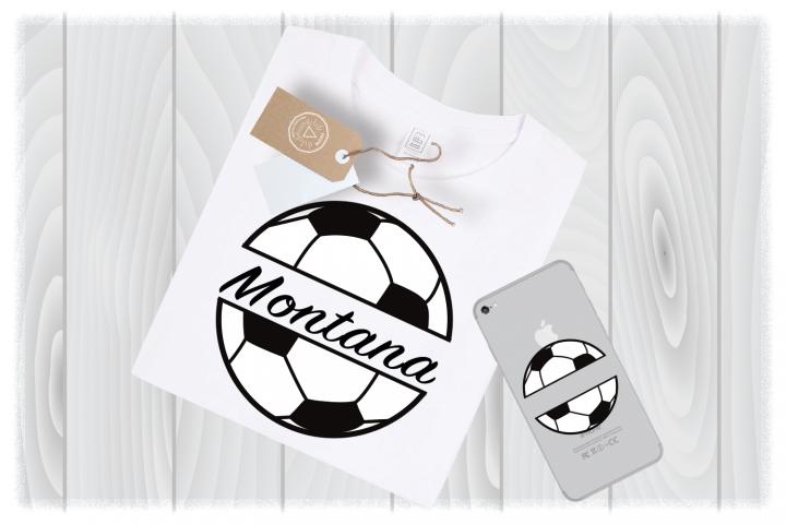 Soccer Ball Monogram SVG Files for Cricut Designs|Sport SVG