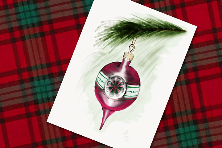 Magenta Christmas Bauble