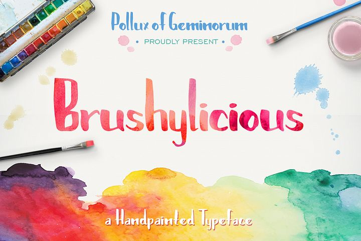 Brushylicious - Free Font of The Week Font