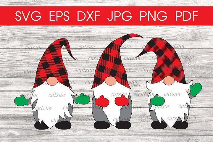 Christmas Gnomes Plaid hats svg | Gnome svg | Christmas svg