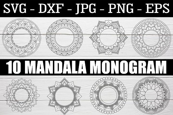 Monogram Mandala Bundle SVG EPS PNG Mandala Monogram Bundle