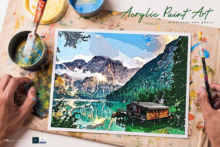 Acrylic Paint Art - PS Action