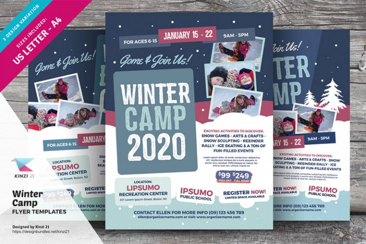 Winter Camp Flyer Templates