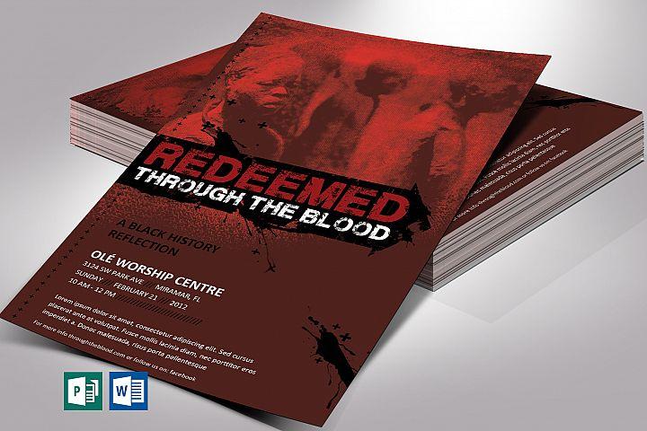 Redeemed Black History Flyer Word Publisher Template V2