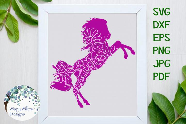 Horse Mandala, Animal Mandala SVG Cut File