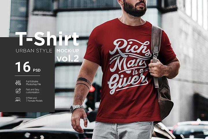 T-Shirt Mock-Up Urban Style vol.2