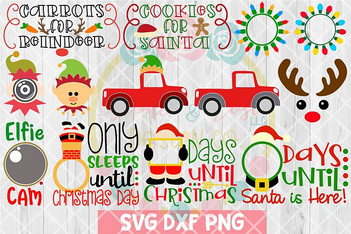 BIG Christmas Bundle SVG DXF PNG 27 Cutting Files