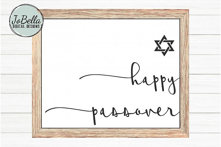 Happy Passover SVG and Printable with Jewish Star