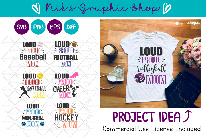 Loud and Proud Mom Svg Bundle, Football, Soccer, Baseball