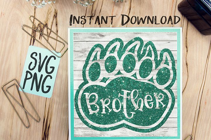 Brother Bear Paw SVG PNG Cricut Cameo Silhouette Brother Scan & Cut Crafters Cutting Files for Vinyl Cutting Sign Making