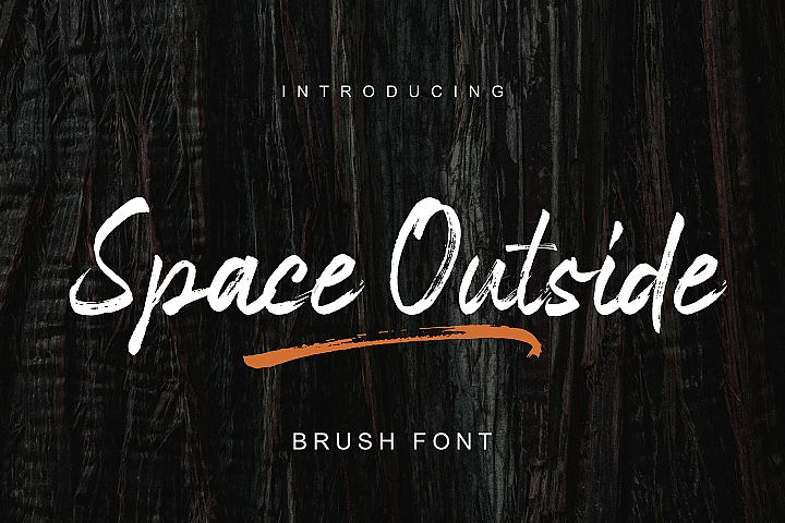 Space Outside Handbrush Font