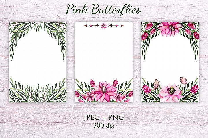 Pink Butterflies example 3