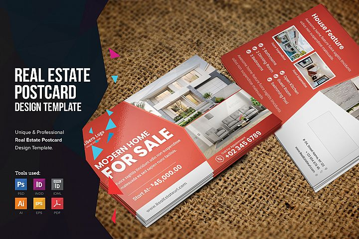 Real Estate Postcard Design v2